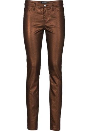 Bodyflirt Kadın Kahverengi Metalik Boru Paça Dar Pantolon