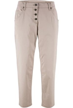 Bpc Bonprix Collection Kadın Gri Bilek Boy Chino Pantolon
