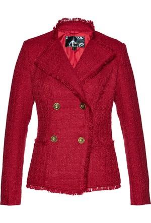 Bpc Selection Kadın Kırmızı Bukle Blazer Ceket