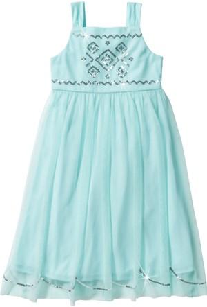 Bpc Bonprix Collection Kız Çocuk Yeşil Payetli Tül Elbise