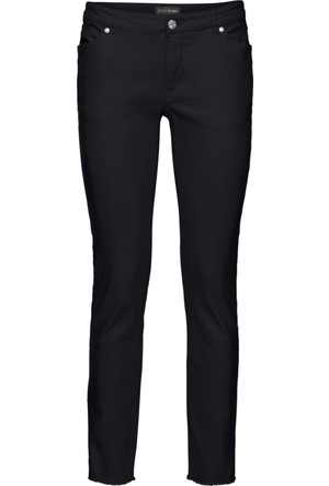 Bodyflirt Kadın Siyah Paçaları Püsküllü Sigaret Pantolon