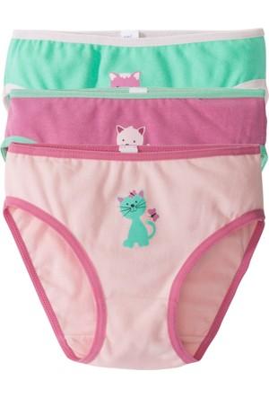 Bpc Bonprix Collection Kız Çocuk Pembe Slip (3'Lü Paket)