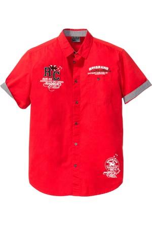 Bpc Selection Erkek Kırmızı Kısa Kollu Gömlek