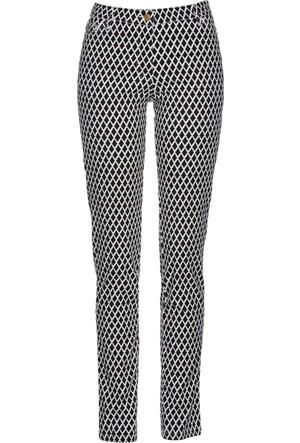 Bpc Selection Kadın Premium Siyah Baskılı Streç Pantolon