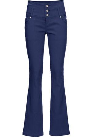 Bodyflirt Kadın Mavi Yüksek Bel Bengalin Streç Pantolon