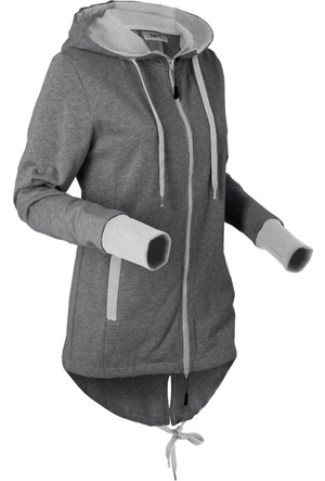 Bpc Bonprix Collection Kadın Gri Sweat Ceket