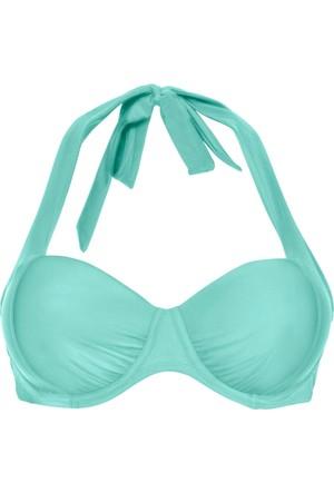 Bpc Selection Kadın Mavi Balenli Bikini Üstü
