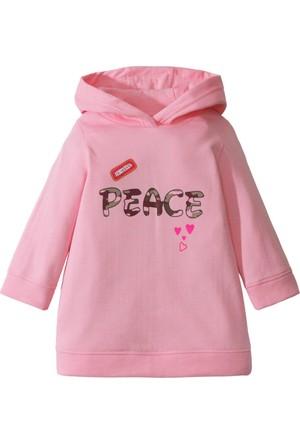 Bpc Bonprix Collection Kız Çocuk Pembe Kapüşonlu Elbise