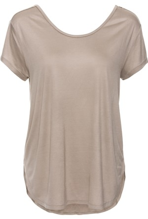 Bodyflirt Kadın Kahverengi Bol Kesimli Bluz