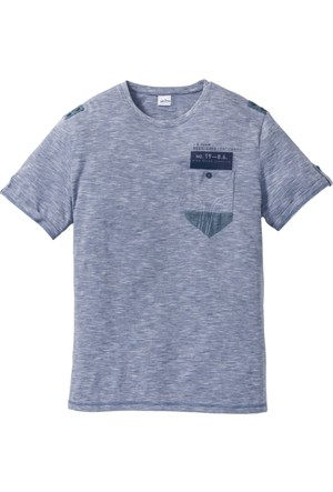 John Baner Jeanswear Erkek Mavi T-Shirt