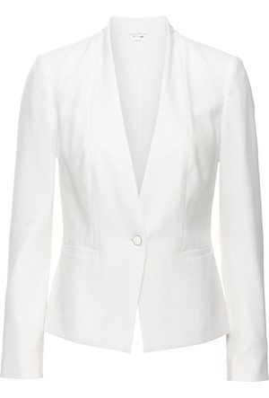 Bodyflirt Kadın Beyaz Blazer Ceket