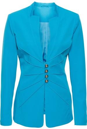 Bodyflirt Kadın Mavi Blazer Ceket