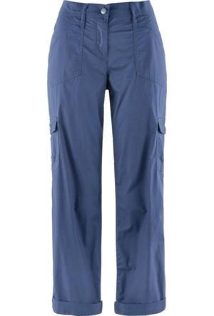 Bpc Bonprix Collection Kadın Mavi Kısa Paça Kargo Pantolon