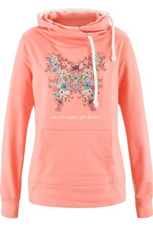 Bpc Bonprix Collection Kadın Pembe Kapüşonlu Sweatshirt
