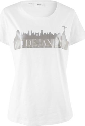 Bpc Bonprix Collection Kadın Beyaz Baskılı T-Shirt