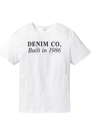 John Baner Jeanswear Erkek Beyaz Baskılı T-Shirt