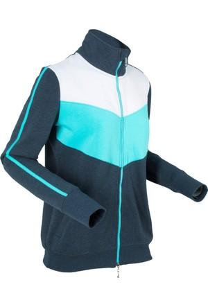 Bpc Bonprix Collection Kadın Mavi Sweat Ceket