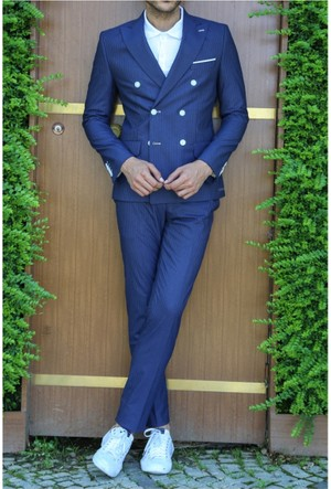 Wss Wessi Yelekli Slim Fit Takım Elbise