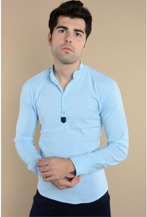 Rodinhills Mavi Erkek Gömlek Hakim Yaka G-62