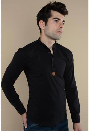 Rodinhills Siyah Erkek Gömlek Hakim Yaka G-62