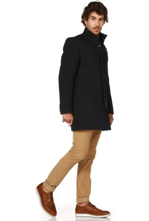 Dewberry P8323 Lacivert Erkek Palto