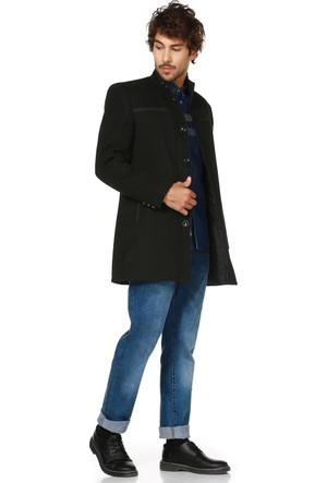 Dewberry P8323 Siyah Erkek Palto