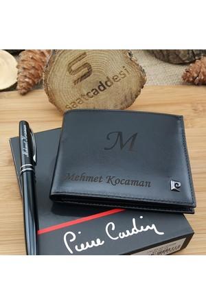 Pierre Cardin Kişiye Özel Deri Erkek Cüzdan + Kalem