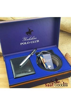 Polo Club İsme Özel Polo Club Erkek Deri Cüzdan Kemer Seti