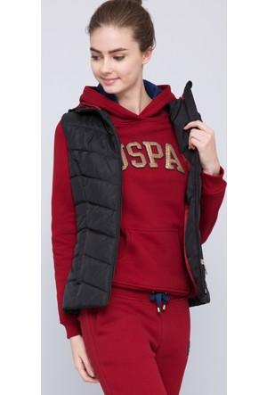 U.S. Polo Assn. Kadın Ebonyk17 Yelek Siyah