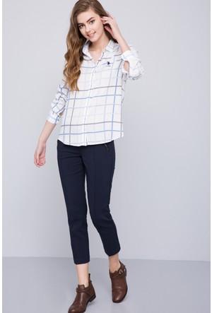 U.S. Polo Assn. Kadın Pocognoli Gömlek Mavi