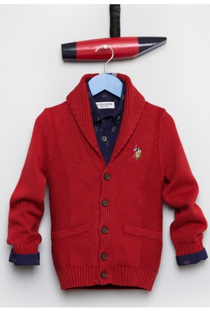 U.S. Polo Assn. Erkek Çocuk Jhonson Hırka Kırmızı
