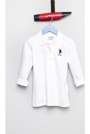 U.S. Polo Assn. Kız Çocuk Tp01-Sk700 Sweatshirt Beyaz