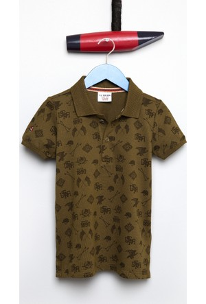 U.S. Polo Assn. Erkek Çocuk Taco T-Shirt Haki