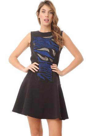 Serpil 15K0421258 Siyah - Saks Elbise