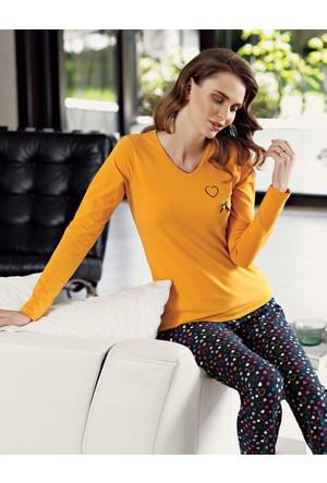 Mel Bee Kalp Desenli Kadın Pijama Takımı Mbp23021-1