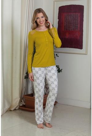 Hays Chloe Penye Kadın 2'li Uzun Pijama Takımı