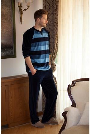 Hays Men Kadife Erkek 2'li Uzun Pijama Takımı