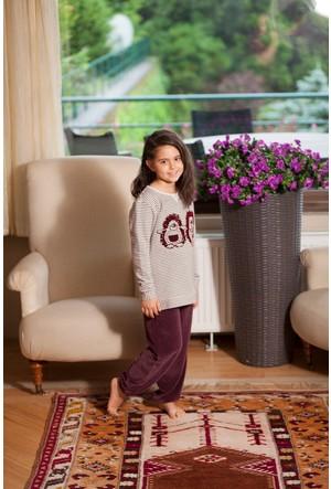 Hays Kids Kız Çocuk 2iplik Üst Kadife Alt Pijama Takımı