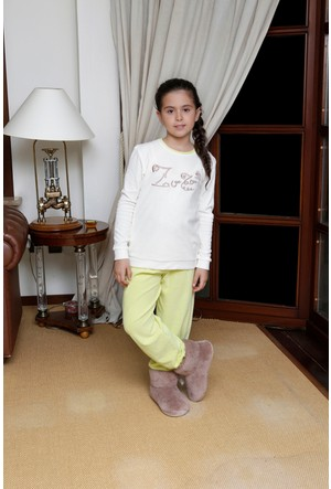 Hays Zuzu Kadife Kız Çocuk 2'li Uzun Pijama Takımı