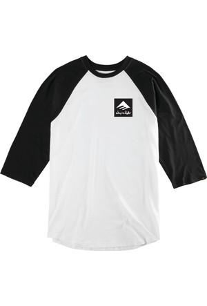 Emerica X Chocolate Raglan Blk White Tişört
