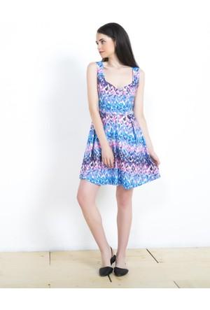 Adze Saks Kadın Yazlık Elbise