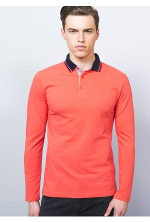 Adze Nar Çiçeği Erkek Polo Yaka SweaTshirt