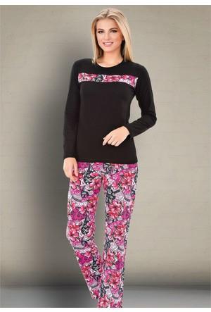 İntimo 7590 Bayan Pijama Takımı Siyah