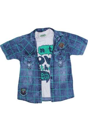 Polat P-7311 Erkek Çocuk Gömlek Yeşil