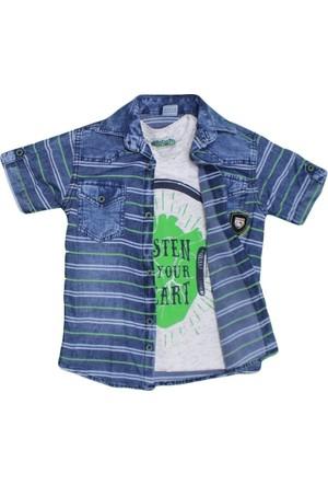 Polat P-7317 Çocuk Gömlek Yeşil