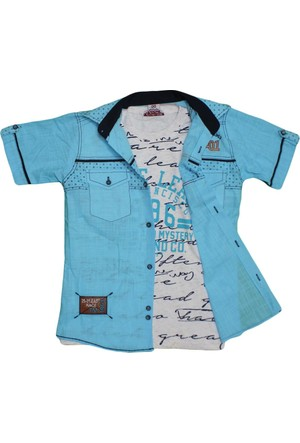 Polat P-8406 Erkek Gömlek Mavi