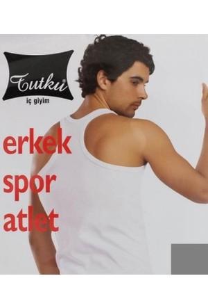 TuTakımı u T-0118 Erkek Ribana Spor Atlet Gri