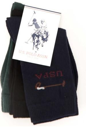 U.S. Polo Assn. Erkek Çocuk Ec01Sk7 Çorap Lacivert