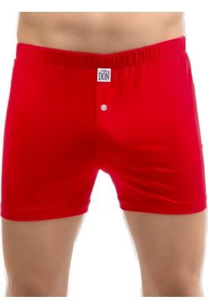 TheDON Kırmızı Jersey Penye Örme Boxer