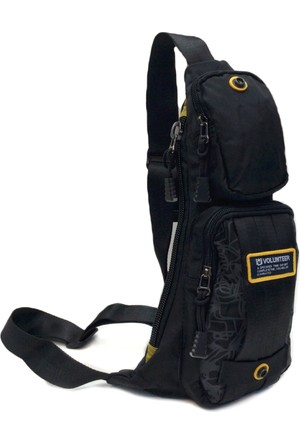 Volunteer Tek Askılı Bady Bag 36 x 16 Cm - Siyah